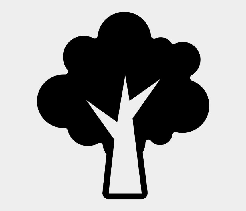 apple tree clip art black and white, Cartoons - Tree Icon Svg