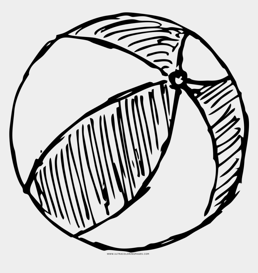Beach Ball Coloring Page - Simple Beach Ball Drawing, Cliparts & Cartoons -  Jing.fm