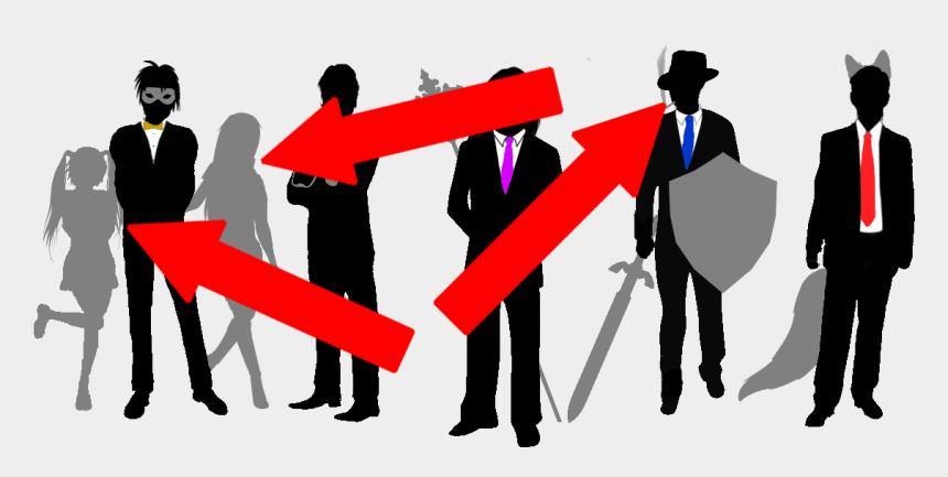 man in suit clip art, Cartoons - Man In Suit Silhouette