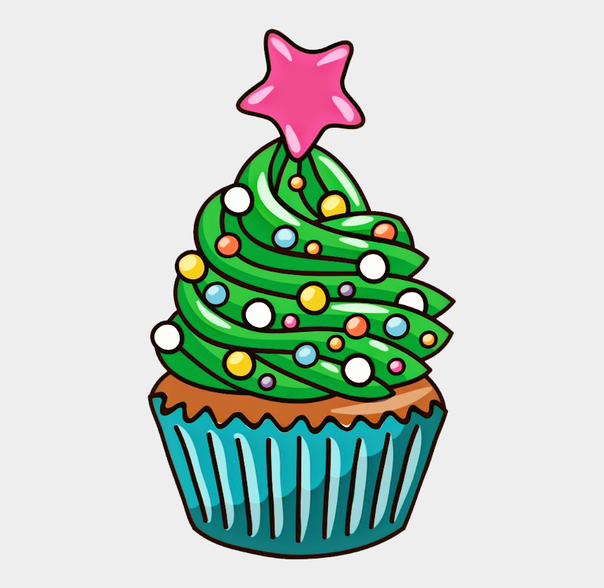 christmas cupcake clip art, Cartoons - #christmastree #cupcake #tree #christmas #ftetrees - Cupcake