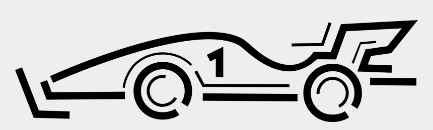 black and white race car clip art, Cartoons - Vector Illustration Of Motor Race Car Automobile Motor