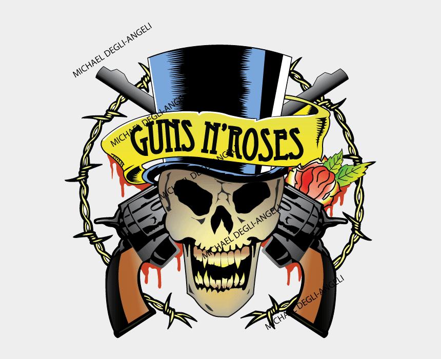 guns n roses clip art, Cartoons - Guns N Roses Tattoo Clipart , Png Download - Guns N Roses Tattoos Designs