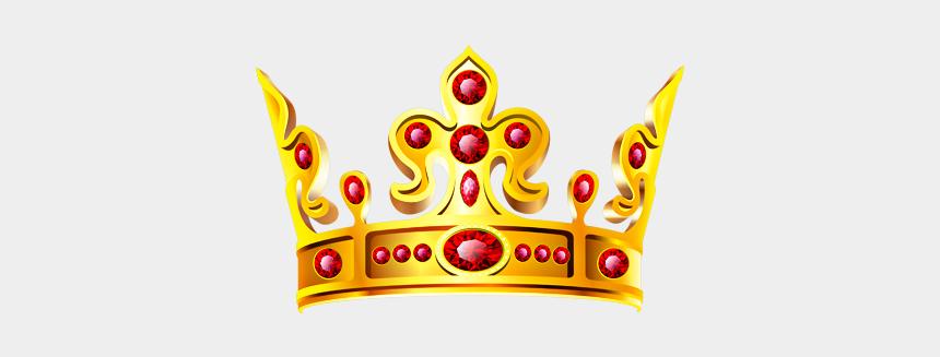 royal queen crown clip art, Cartoons - #crown #gold #ruby #royal #queen #princess #king #prince - Princess Crown Gold Clipart