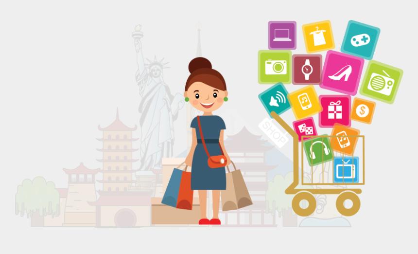 online shopping clip art, Cartoons - Design
