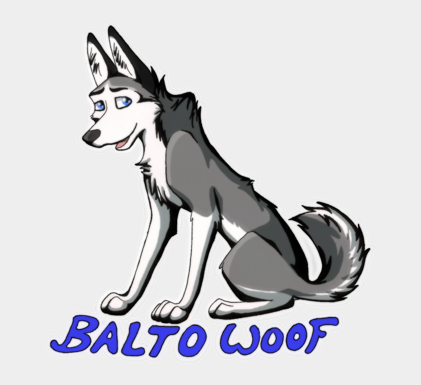 sled dog clip art, Cartoons - Full Body Badge Balto - Dog Yawns