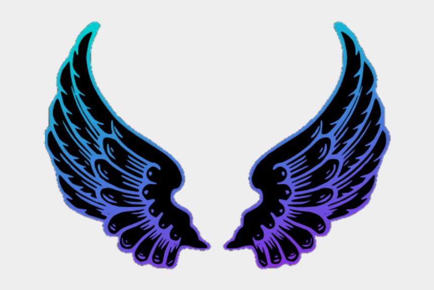 blue angel wings clip art, Cartoons - #angelwings #wings #purple #blue - Neon Colour Angel Wings