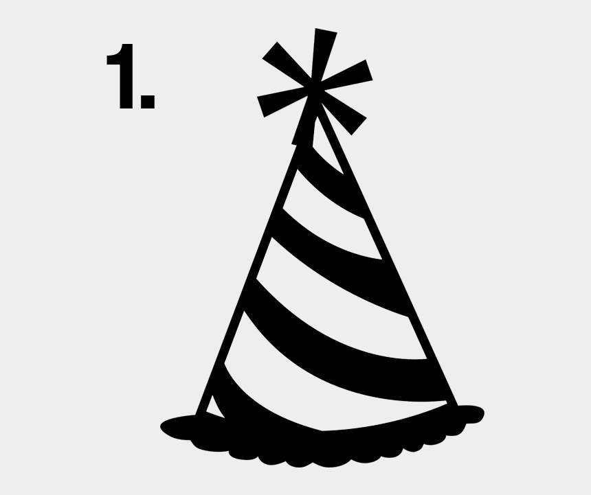 party hat clip art black and white, Cartoons - Party Hat Clip Art - Party Hat Clip Art Black