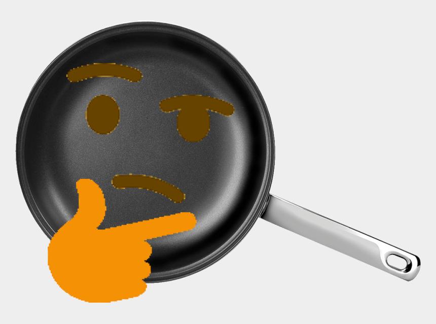 thinking emoji clip art, Cartoons - #pan #thinking #emoji - Frying Pan
