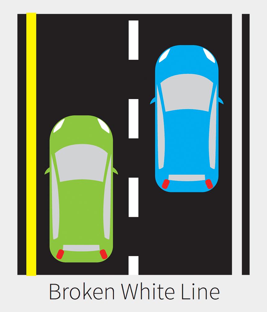 road lines clip art, Cartoons - Single Broken White Line - Pavement Single Solid White Line