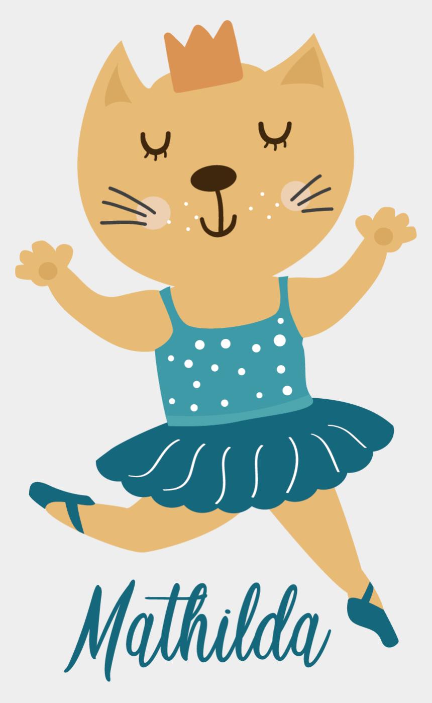 kitty paw print clip art, Cartoons - Gata Bailarina Dibujo