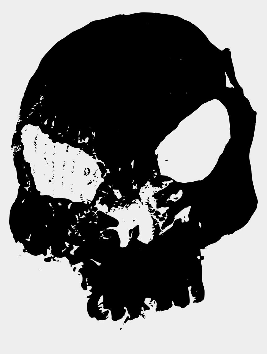 halloween skull clip art, Cartoons - Grunge Skull Png - Halloween Png Format