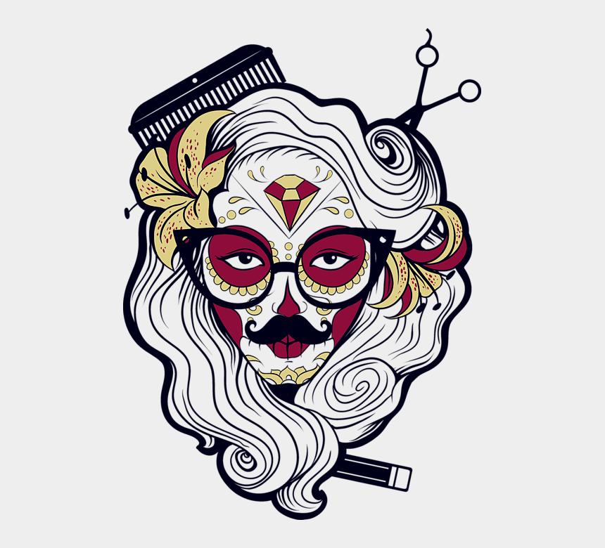 halloween skull clip art, Cartoons - Sugar Skull Colouring Pages