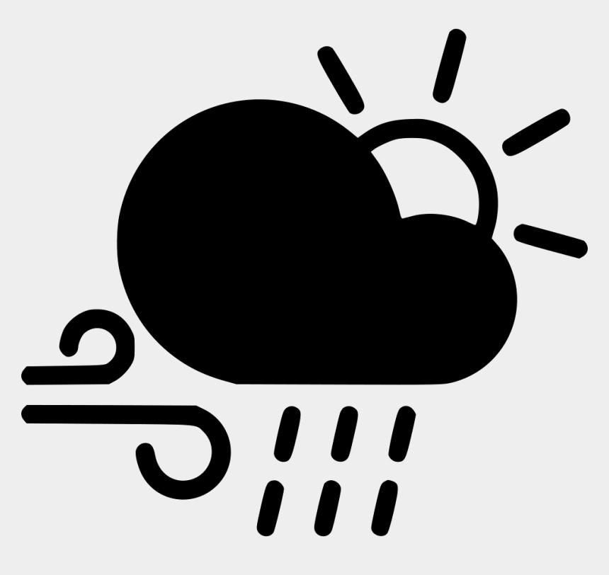 cloud rain clipart, Cartoons - Day Shower Cloud Rain Sun Comments - Sun And Wind Icon