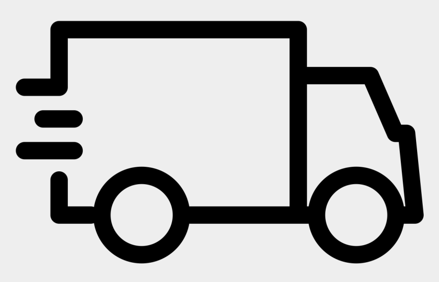 moving truck clipart black and white, Cartoons - Icon Delivery Services Free Clipart , Png Download - Delivery Truck Clip Art