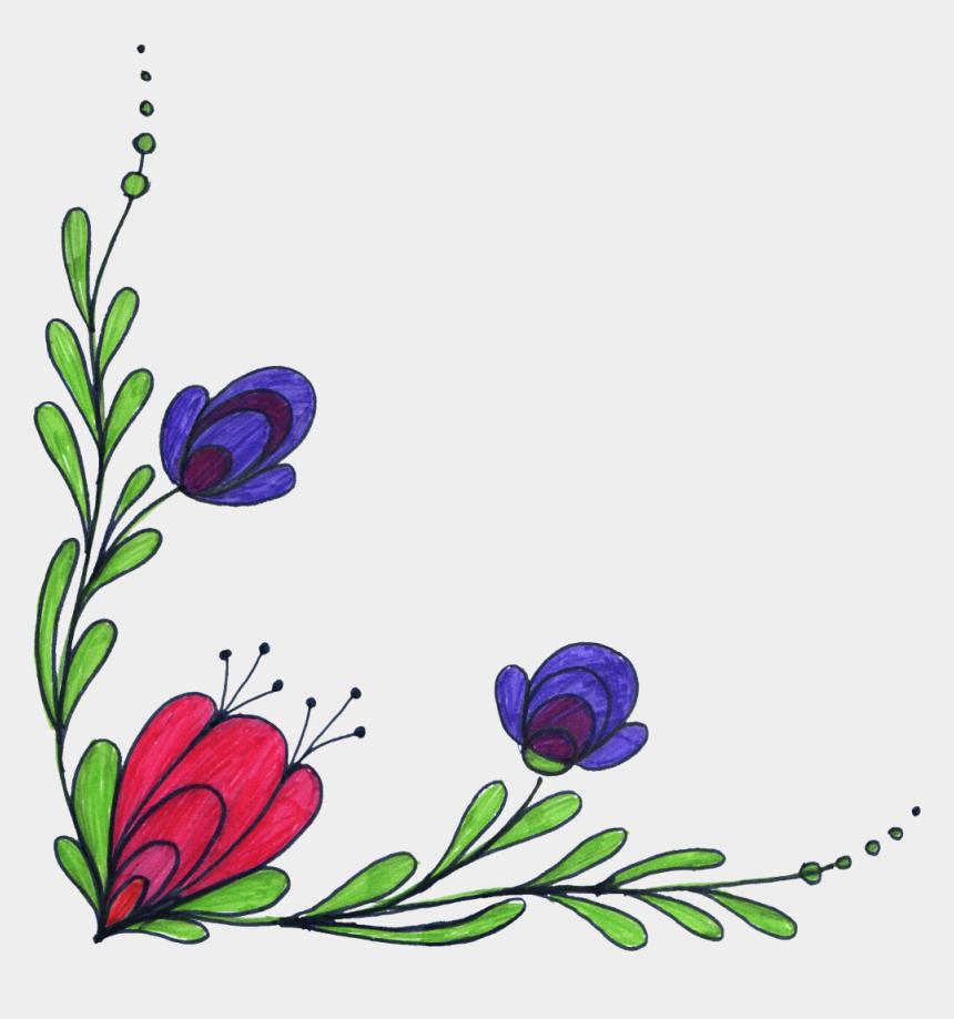 purple corner flower clip art, Cartoons - Flower Designs Transparent Background