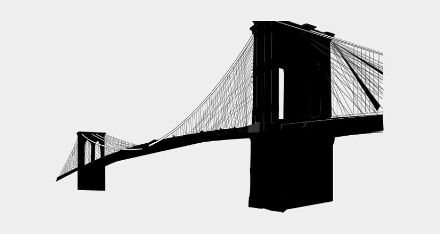 broken bridge clip art, Cartoons - Broken Bridge Clipart Side View - Clip Art Brooklyn Bridge Silhouette