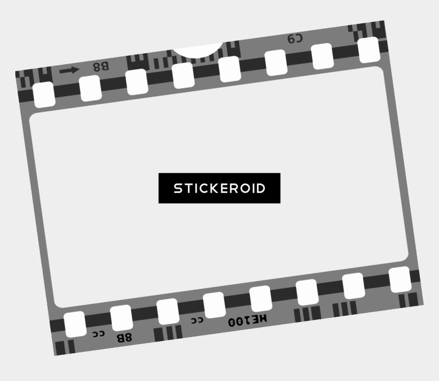 clipart film strip, Cartoons - Filmstrip Clipart , Png Download - Film Effect Png Borders