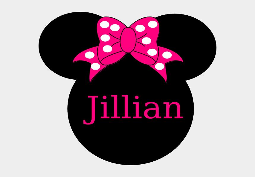 name tag clipart, Cartoons - Jillian Clip Art - Minnie Mouse Head Png