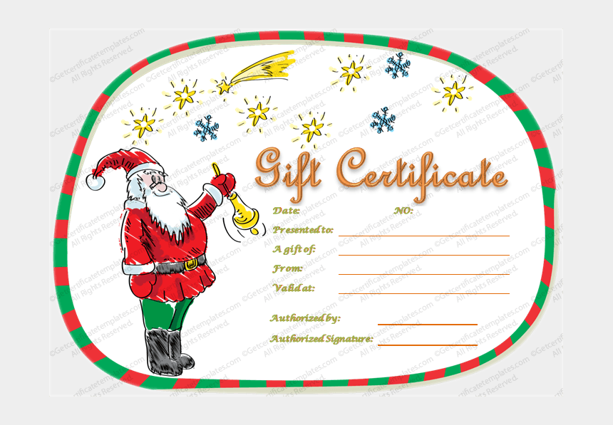Magical Christmas Gift Certificate Template Christmas Free Gift Certificate Template Cliparts Cartoons Jing Fm