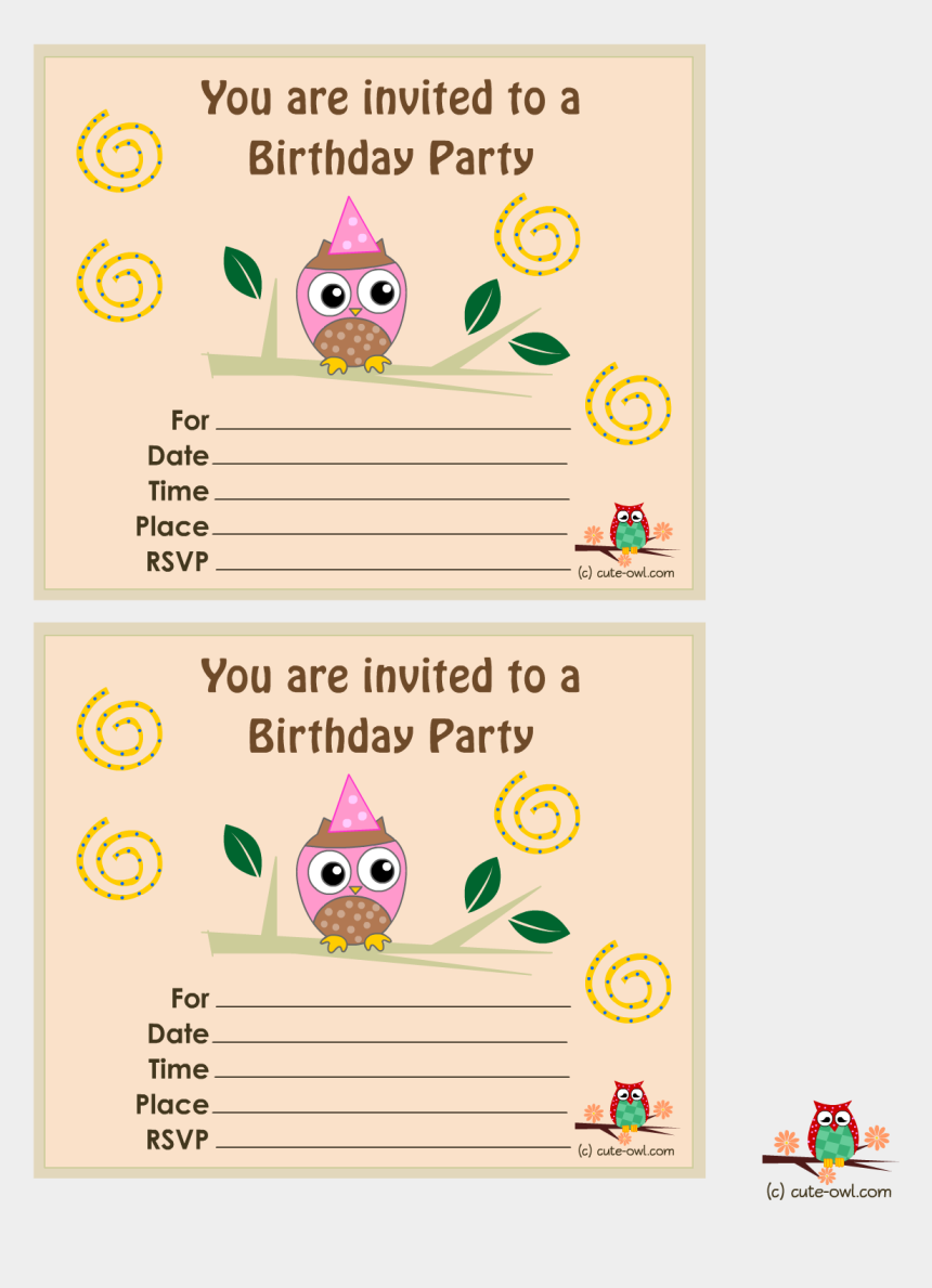 you're invited clipart, Cartoons - Free Printable Owl Birthday Party Invitations With - Owl Themed Invitations For Birthday Party