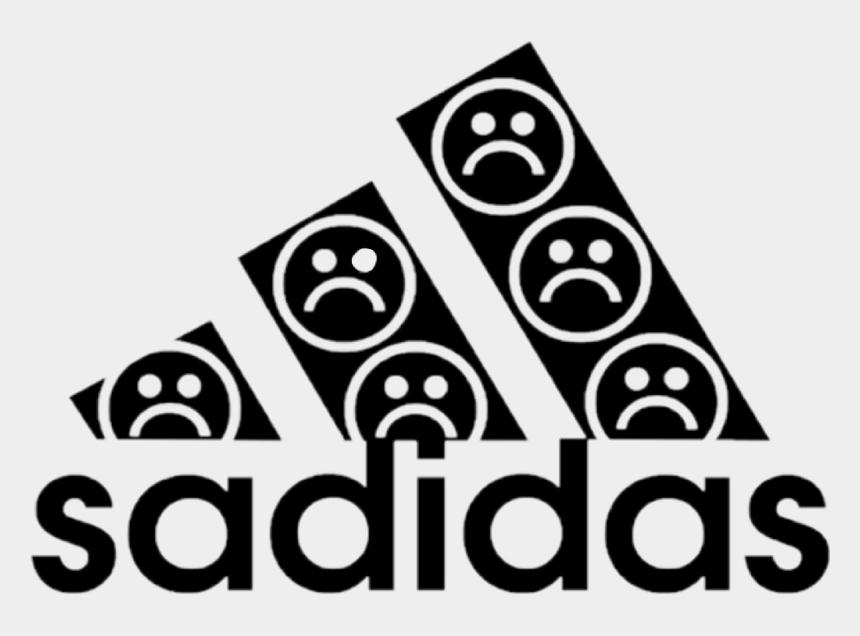 capitalism clipart, Cartoons - #adidas #sadidas #aesthetic #sad #vaporwave #capitalism - Aesthetic Tumblr Png Black