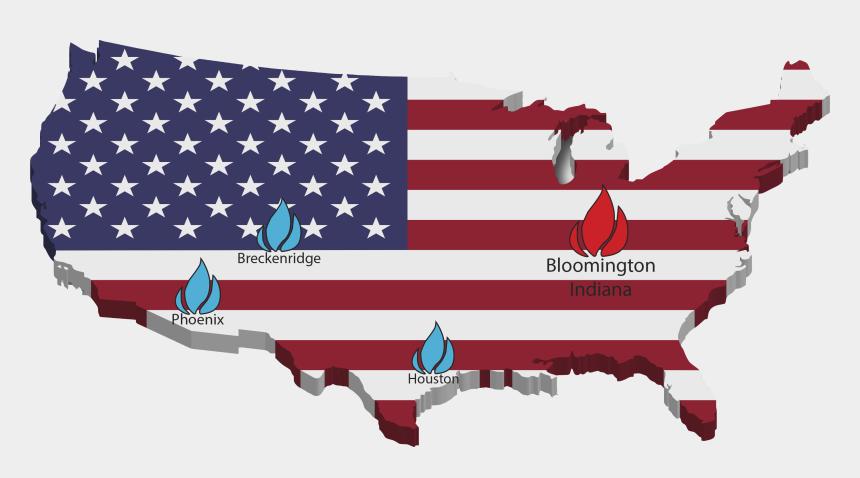 german american flag clip art, Cartoons - America Flag On Map