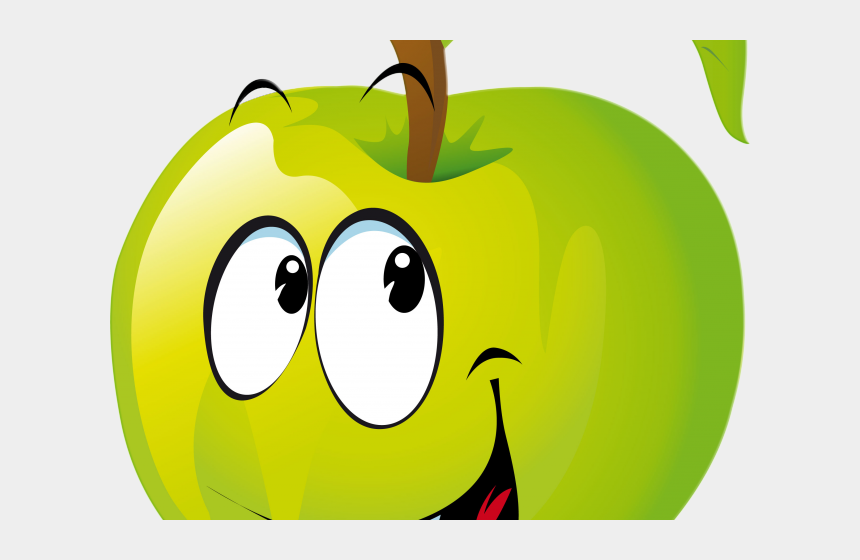 yellow apple clip art, Cartoons - Sevimli Meyveler