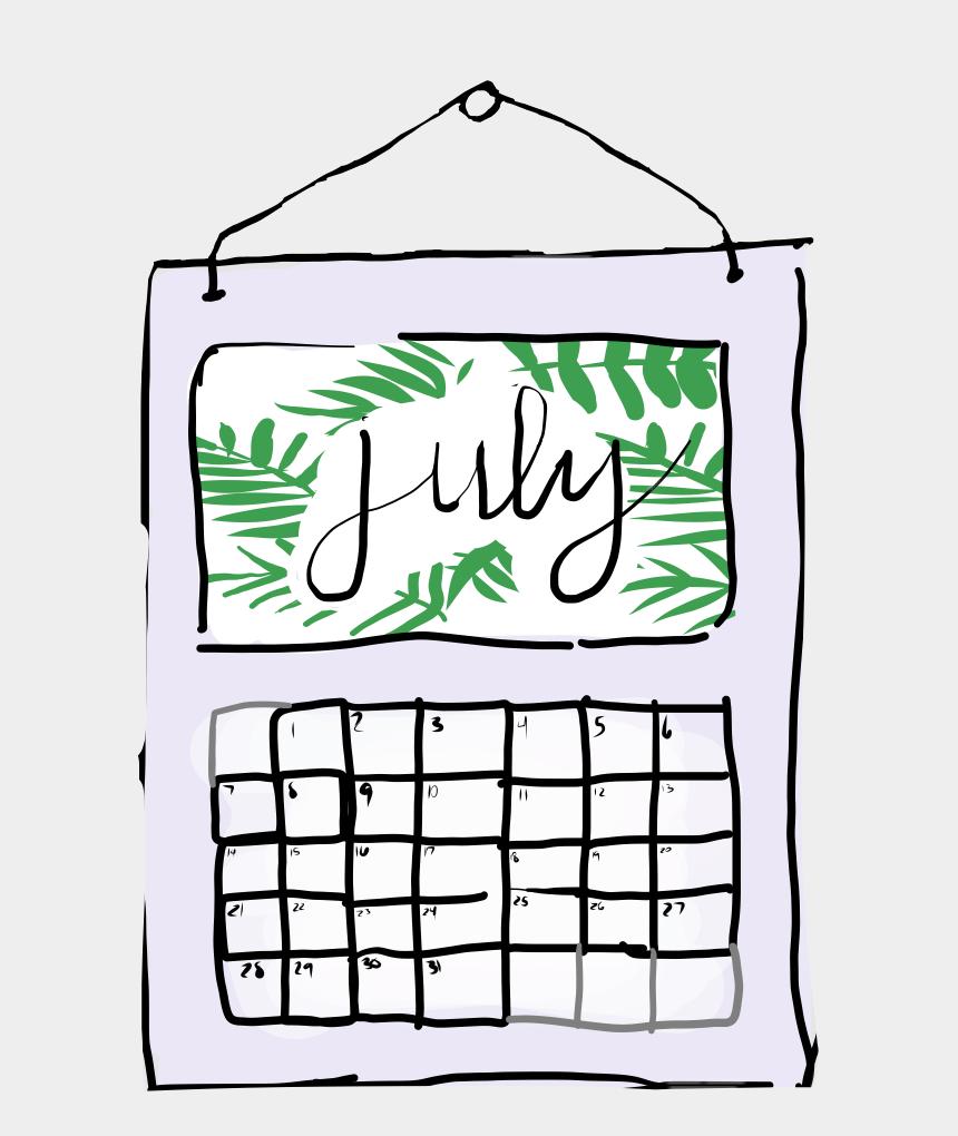 july month clip art, Cartoons - #freetoedit #calander #calendars #july #month #months