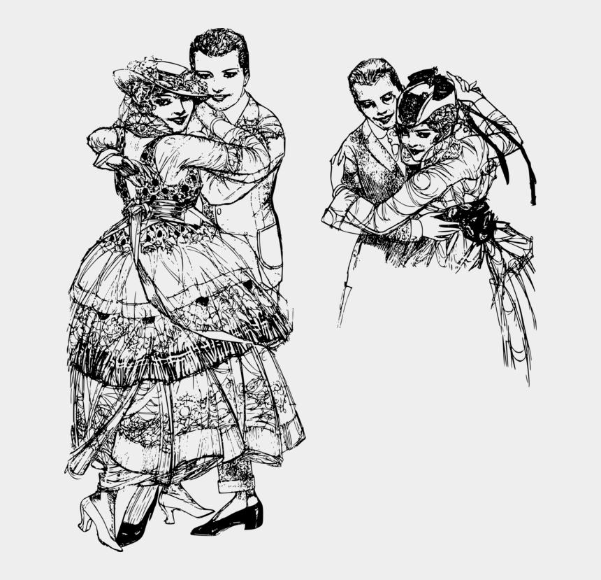 victorian fashion clip art, Cartoons - Line Art,victorian Fashion,fashion - Dance