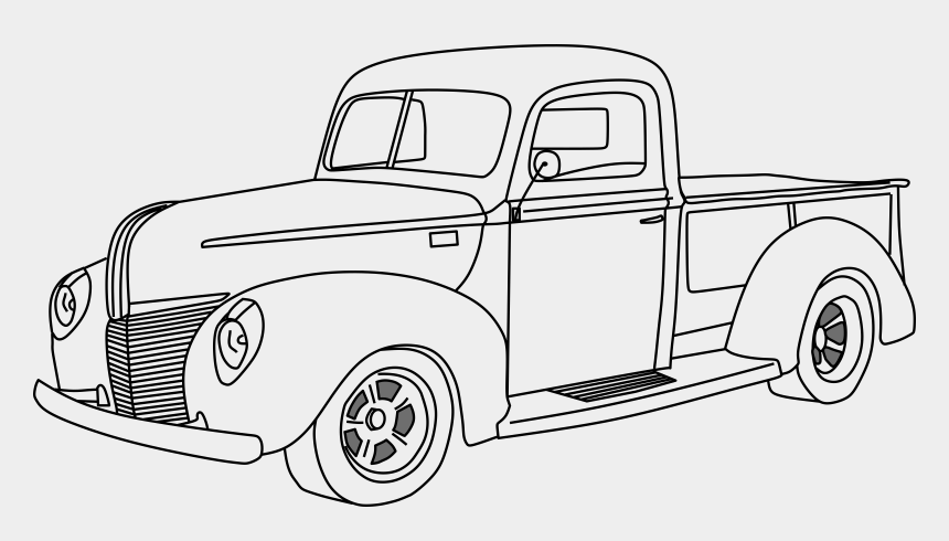 toy cars and trucks clip art, Cartoons - 1940 Ford Truck Drawing