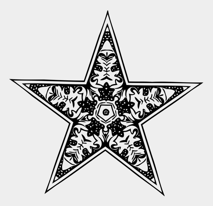 line of stars clip art, Cartoons - Line Art,plant,star - Gambar Bintang Hitam Putih