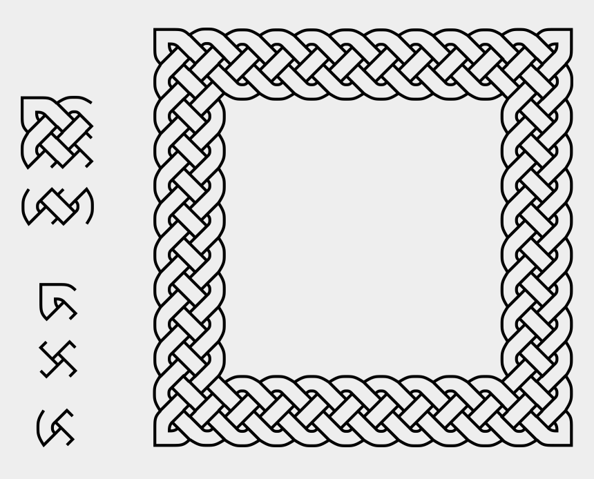 bicycle border clip art, Cartoons - Plait Square Big Image - Square Celtic Knot Border