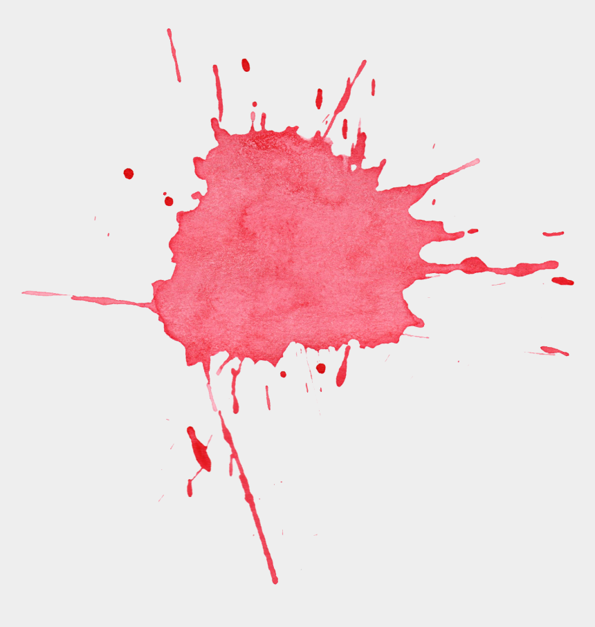 pink paint splatter clip art, Cartoons - Red Watercolor Splash Png