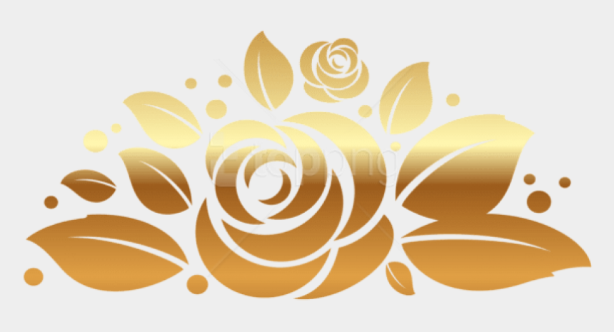 rose clipart vector, Cartoons - Free Png Download Gold Rose Decorpicture Clipart Png - Rose Gold Designs Transparent
