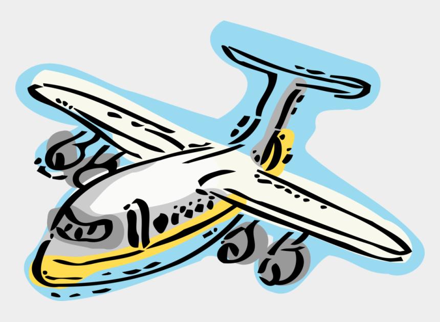 airplane landing clip art, Cartoons - Vector Illustration Of Commercial Airline Passenger