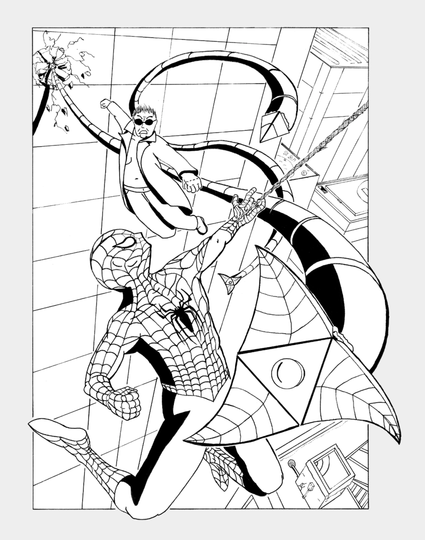 spiderman clipart coloring, Cartoons - Tardis Clipart Coloring Page - Spiderman Octavius Coloring Page