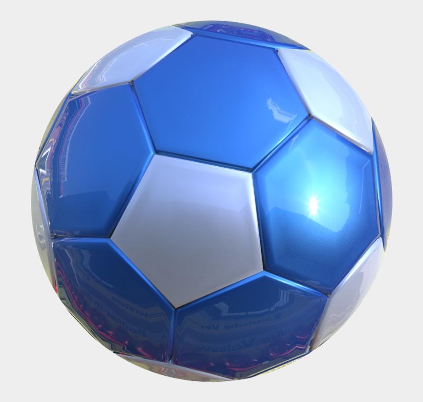 soccer clipart no background, Cartoons - 3d Soccer Ball Png Ball- - Blue Soccer Ball Transparent Background