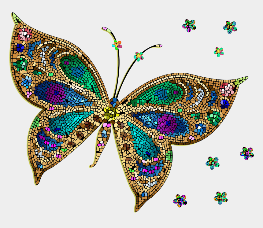 butterflies clipart colored, Cartoons - Colorful Tiled Icons Png - Colorful Butterfly