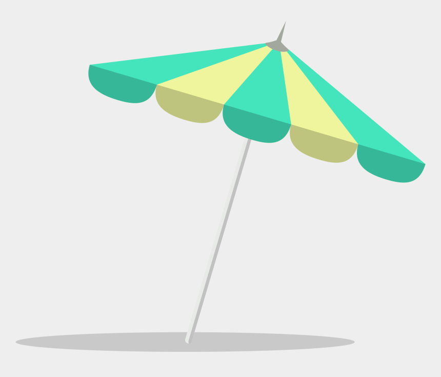 tropical beach umbrella clipart, Cartoons - Beach Umbrella Flat Design