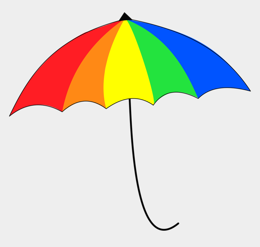 rainbow beach umbrella clipart, Cartoons - Umbrella Colorful Rainbow Free Photo - Guarda Chuva Colorido Png