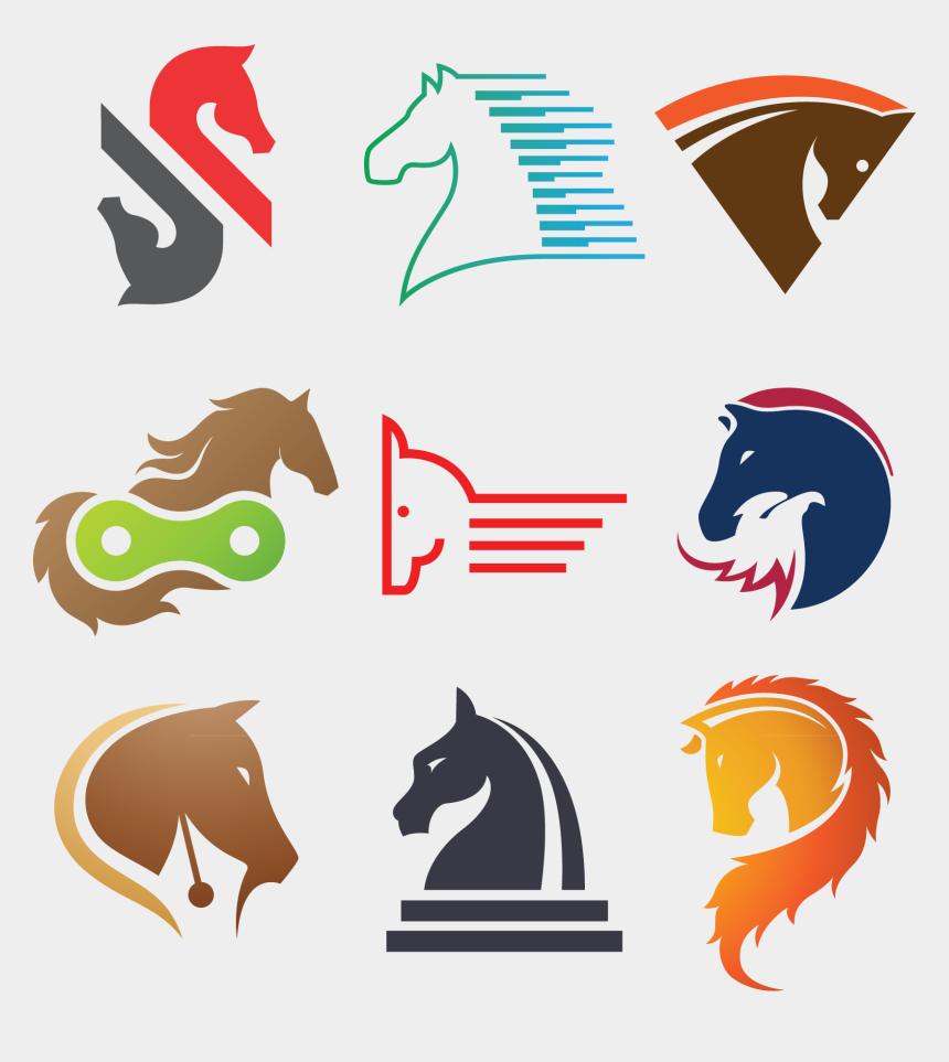 horse head clipart logo, Cartoons - Horse Logo Clip Art - Hourese Vector Png