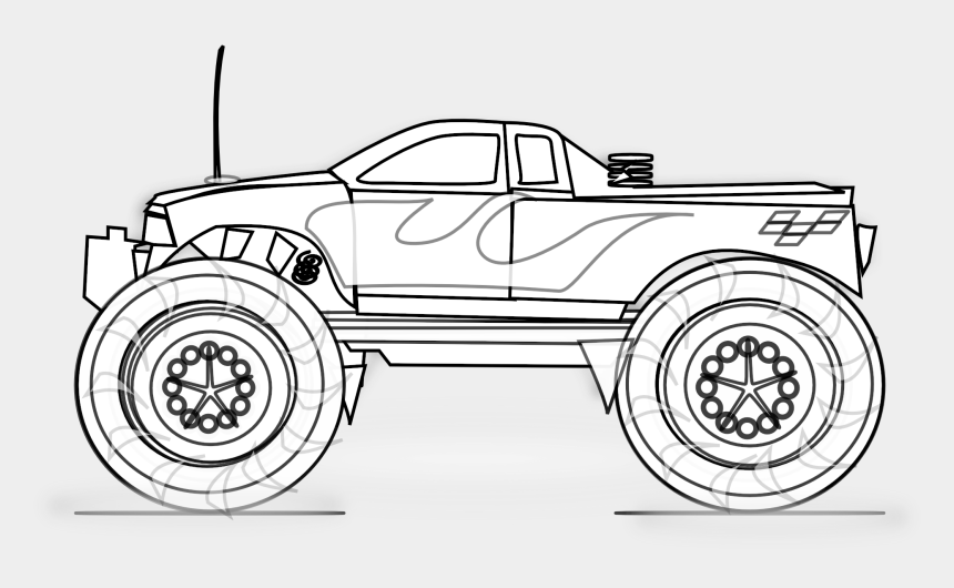 Free Printable Monster Truck Monster Truck Clipart Black And White Cliparts Cartoons Jing Fm