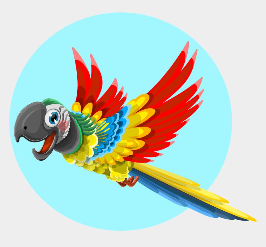macaw clipart, Cartoons - Clip Art Transparent Bird Sticker By Lilith - Quad City Parrot Head Club