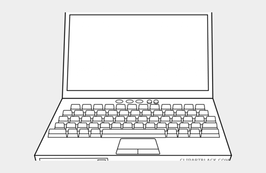 Laptop Clipart Black And White - Laptop Computer Coloring ...