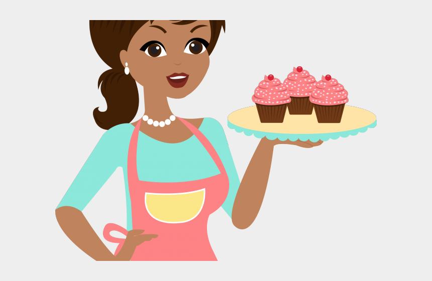 Pie Clipart Lady Baker Boneca Com Bolo Desenho Cliparts