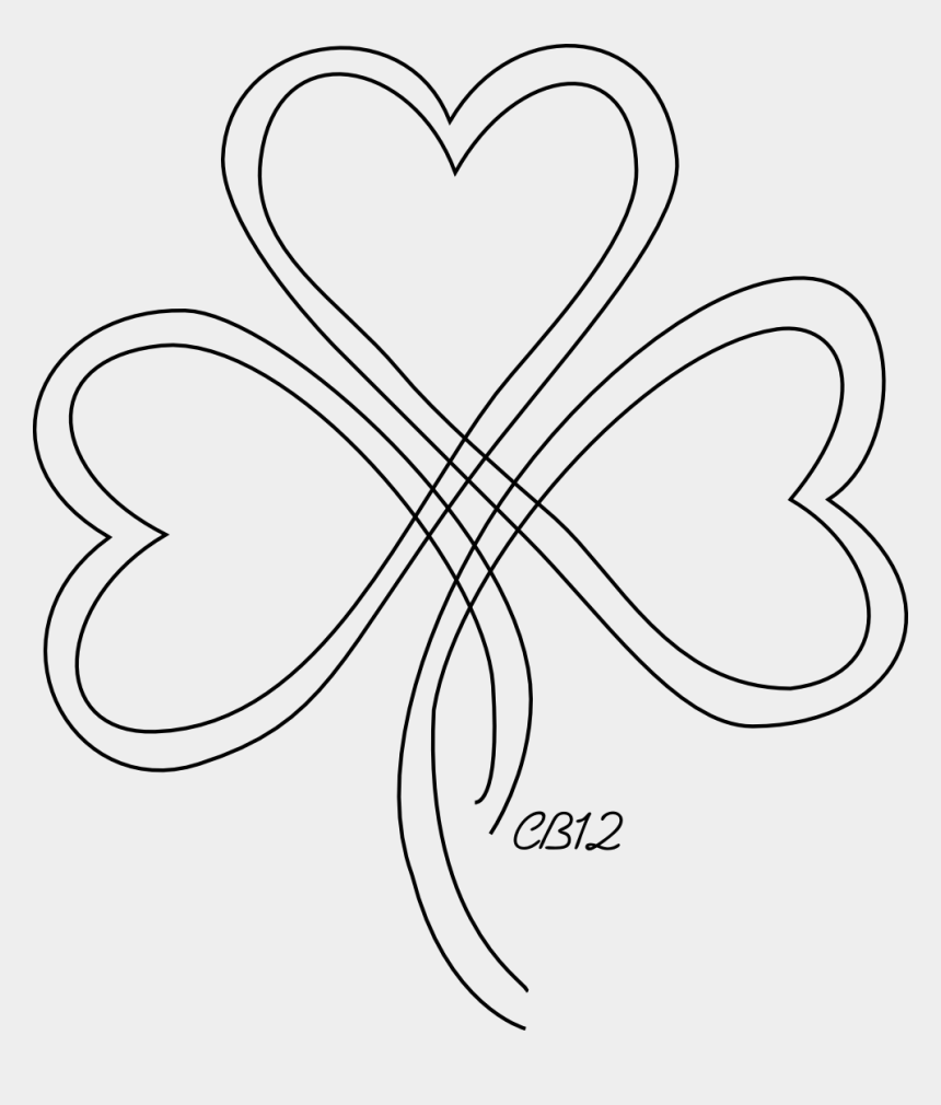 cute shamrock clipart, Cartoons - Thinking This Would Be A Cute Tattoo With My Hubby - Heart Shamrock Tattoo
