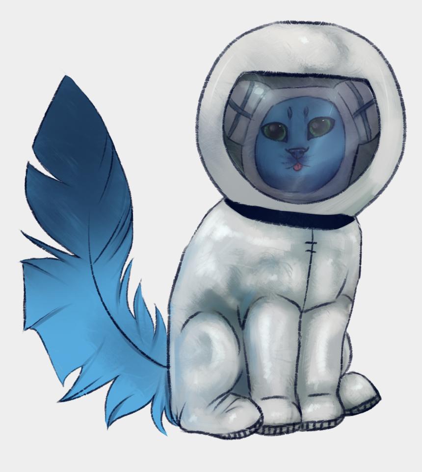 astronaut helmet clipart, Cartoons - Blue Cat In An Astronaut Suit And Helmet - Cartoon