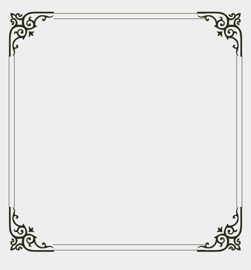 simple rectangle frame clipart, Cartoons - Picture Simple Frame Computer File Border Clipart - Border Design In Black