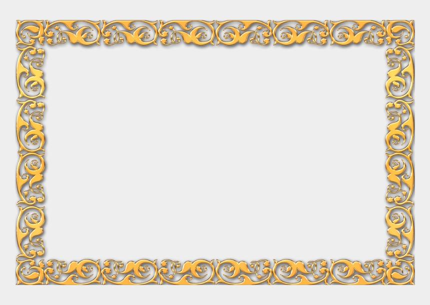 simple rectangle frame clipart, Cartoons - Vintage Gold Frame Border - Certificate Border Frame Design