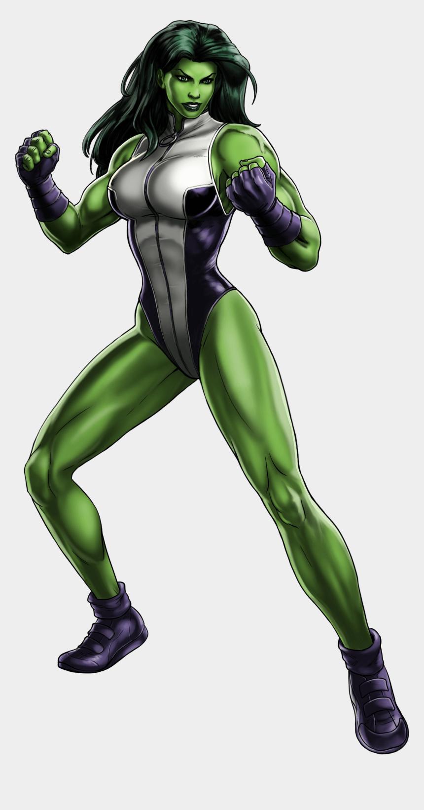 she clipart, Cartoons - She Hulk Marvel Avengers Alliance